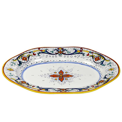 RICCO DERUTA: Hexagonal Lg Oval Turkey Platter