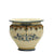"SOFIA TRICOLORE: Round Medium Cachepot/Planter with Bass Relief Decoration (12"" Diam.)"
