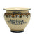 "SOFIA TRICOLORE:  Round Cachepot/Planter with Bass Relief Decoration - Medium (14"" Diam)"