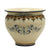 "SOFIA TRICOLORE: Round Cachepot/Planter with Bass Relief Decoration - Large (16"" Diam.)"