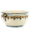 SOFIA TRICOLORE: Large Round Centerpiece Bowl with Bass Relief Decoration