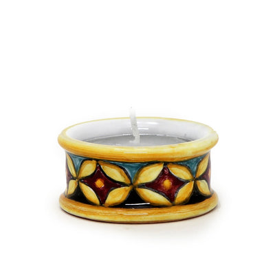 TEA LIGHT: Assorted Round cylinder Deruta Tea Light holder