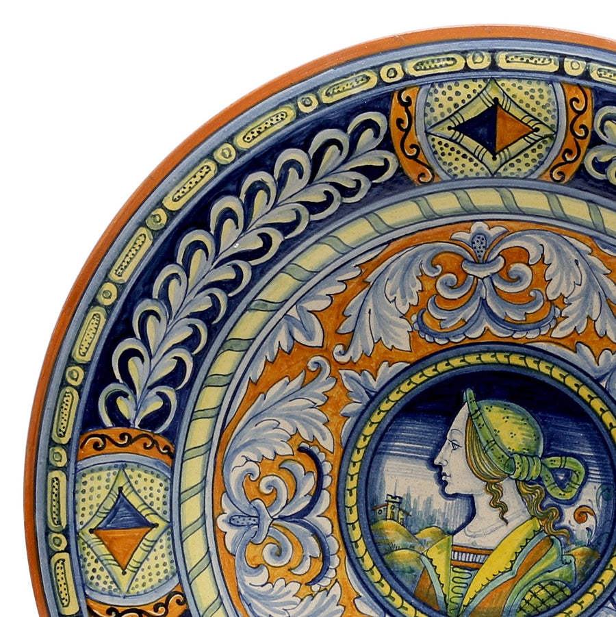 DERUTA: Large Wall Plate Noblewoman (20D)