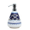 DERUTA VARIO BLUE: Liquid Soap/Lotion Dispenser with Chrome Pump (Medium 18 OZ)