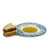 DERUTA VARIO DELUXE: Olive Oil Fancy Dipping Bowl with large rim AQUAMARINE TEAL Color