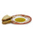 DERUTA VARIO DELUXE: Olive Oil Fancy Dipping Bowl with large rim CORALLO RED Color