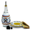 RICCO DERUTA: Olive Oil Bottle Dispenser with optional matching Saucer/Dipping Bowl