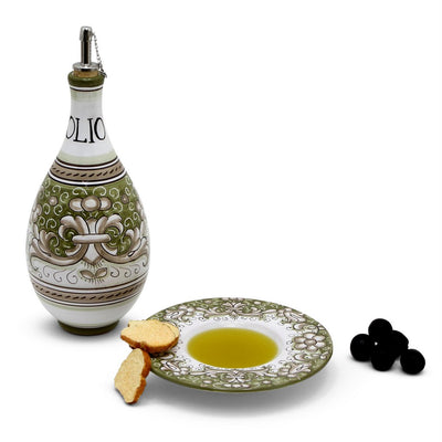 DERUTA VARIO DELUXE: Traditional Olive Oil Bottle with pourer Green Color