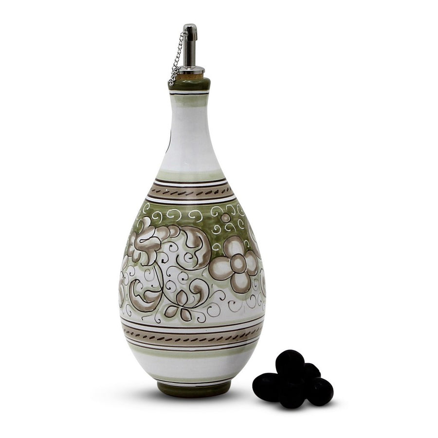 DERUTA VARIO DELUXE: Traditional Olive Oil Bottle with pourer SAGE GREEN Color