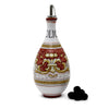 DERUTA VARIO DELUXE: Traditional Olive Oil Bottle with pourer Antique Red Color