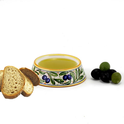 OLIVA: Round Tapered Olive Oil Dipping Bowl