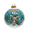 CHRISTMAS ORNAMENT: Deruta Vario Deluxe Round Ball AQUAMARINE TEAL