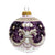 CHRISTMAS ORNAMENT: Deruta Vario Deluxe Round Ball PURPLE