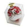 CHRISTMAS ORNAMENT: Deruta Vario Deluxe Round Ball CORALLO RED