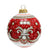 CHRISTMAS ORNAMENT: Deruta Vario Deluxe Round Ball RED