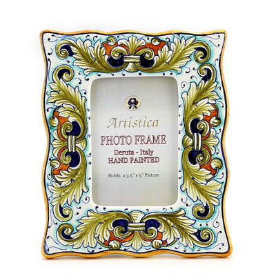 PHOTO FRAME: Deruta Vario Foglie Verdi (For 35x5 Picture)
