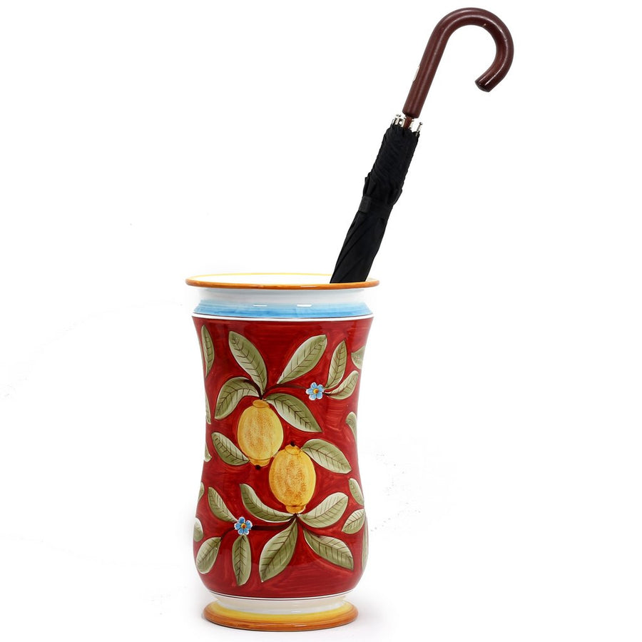 POSITANO ROSSO: Shaped Umbrella Stand Vase