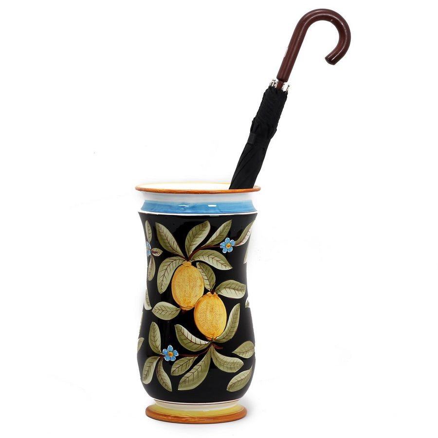 POSITANO NERO: Shaped Umbrella Stand Vase