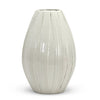 SCAVO ALPINE: Olive Shaped Vase rustic hand stripes