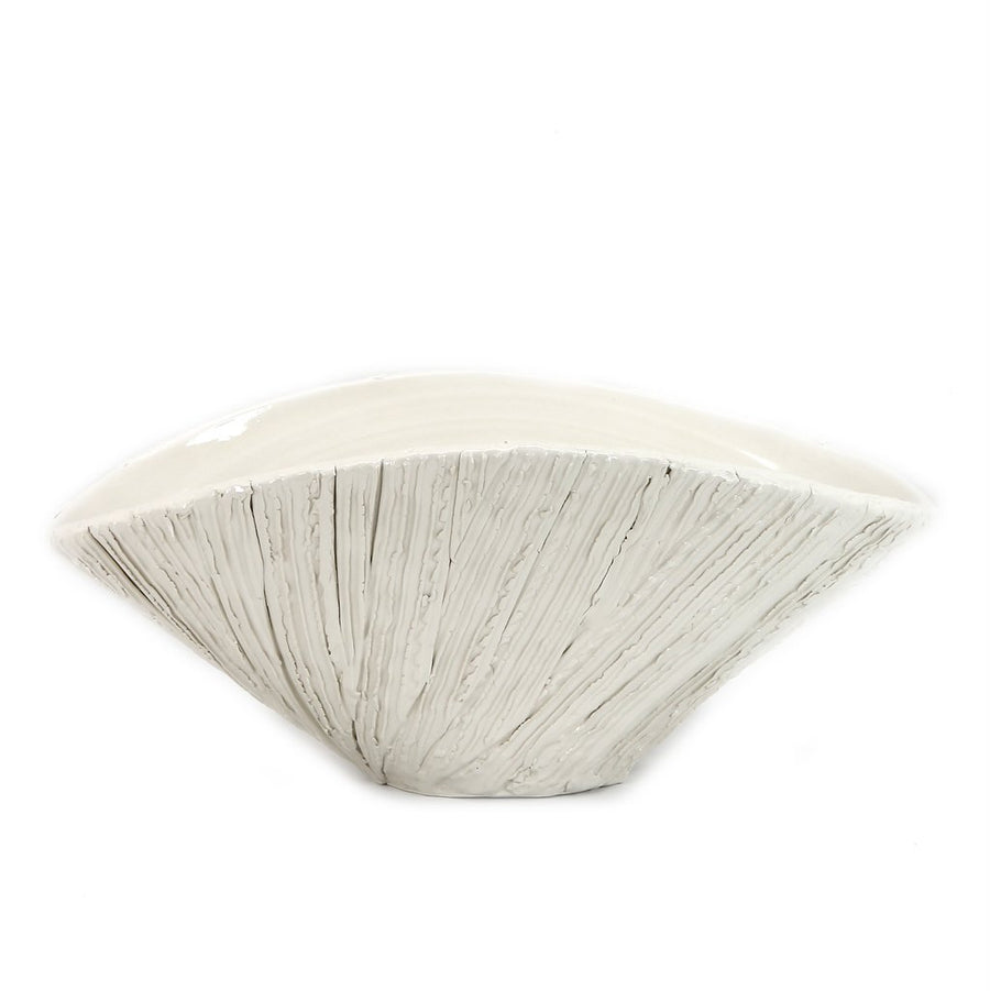 SCAVO ALPINE: Oval Bowl Centerpiece rustic stripes