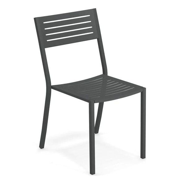 EMU ITALY: SEGNO - Outdoor/Indoor Iron Black Chair