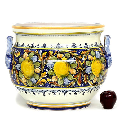 MAJOLICA: Extra large cachepot MAJOLICA: Limoni