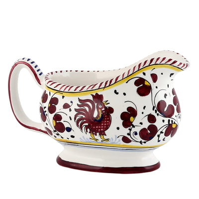 ORVIETO RED ROOSTER: Gravy Sauce boat