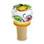 DERUTA VARIO: DeLuxe Round Cylindrical Bottle Cork Stopper Lemon & Flower Design [R]