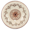 SOFIA ANTIQUE IVORY: Centerpiece Plate with Bass Relief Decoration