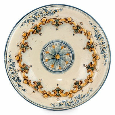 SOFIA TRICOLORE: Centerpiece Plate with Bass Relief Decoration