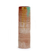 SCAVO CONTEMPO: Cylindrical Tall Vase - Terracotta with multicolor paint drippings