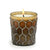 MONDIAL CANDLES: Vix Honeycomb Design Glass Container Candle Bronze/Silver