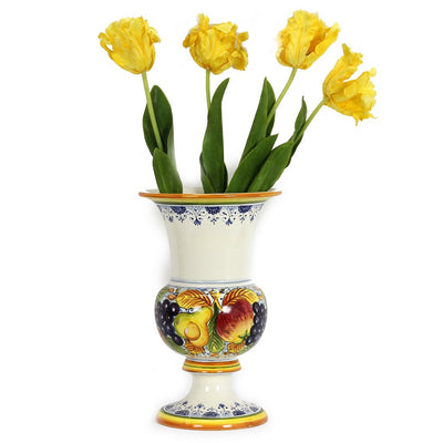 FRUTTA: Large Footed Cup Vase