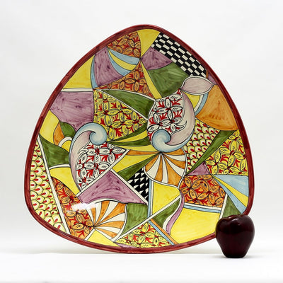 GAUDI: Large Triangular Centerpiece Plate