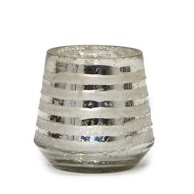 MONDIAL CANDLES: Allure Design Glass Container Candle Silver