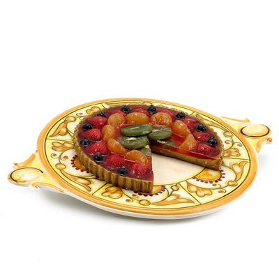 CAFF GEMMA: Round Tray with handles