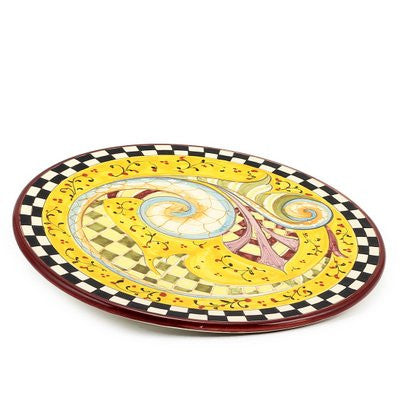 GAUDI: Cake Cheese round tray fully decorated