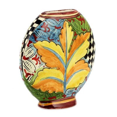 GAUDI: Flatten vase (Small) fully decorated