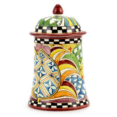 GAUDI: Shaped canister fully decorated