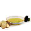 OLIVE: Olive Oil Bottle with S Steel pourer and Dipping Bowl SET