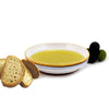 PERUGINO: Olive Oil Bottle with S Steel pourer and Dipping Bowl SET