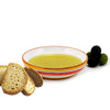 POSITANO ROSSO: Olive Oil Bottle with S Steel pourer and Dipping Bowl SET