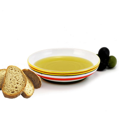 TIZIANO: Olive Oil Bottle with S Steel pourer and Dipping Bowl SET