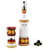 POSITANO ROSSO: Olive Oil Bottle and Salt Pepper Mill SET