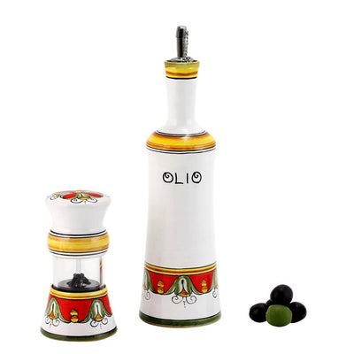 TIZIANO: Olive Oil Bottle and Salt Pepper Mill SET