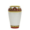 DERUTA BELLA: Small Vase - Red, Gold, White Design