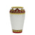DERUTA BELLA: Small Vase - Red, Gold, White Design - (Premium Masterpiece by Francesca Niccacci)