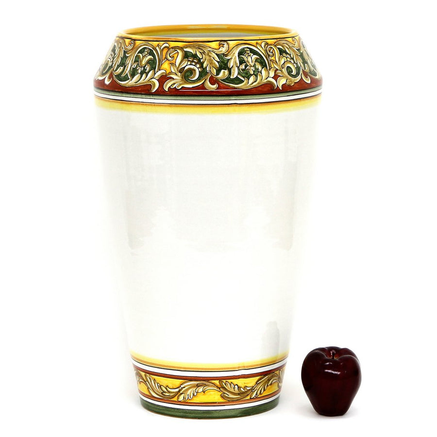 DERUTA BELLA: Large Vase/Umbrella Stand - Old Ocre Design
