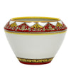 DERUTA BELLA: Cachepot - Red, Gold, White Design