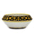 DERUTA BELLA: Fruit Bowl Centerpiece - Black & Gold Design - (Premium Masterpiece by Francesca Niccacci)